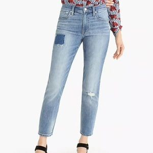 NWT J Crew Slim Boyfriend distressed Jeans